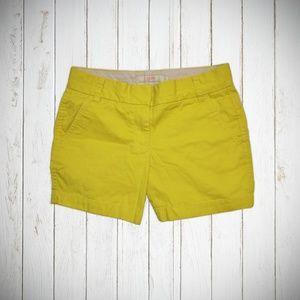 bright yellow chino shorts